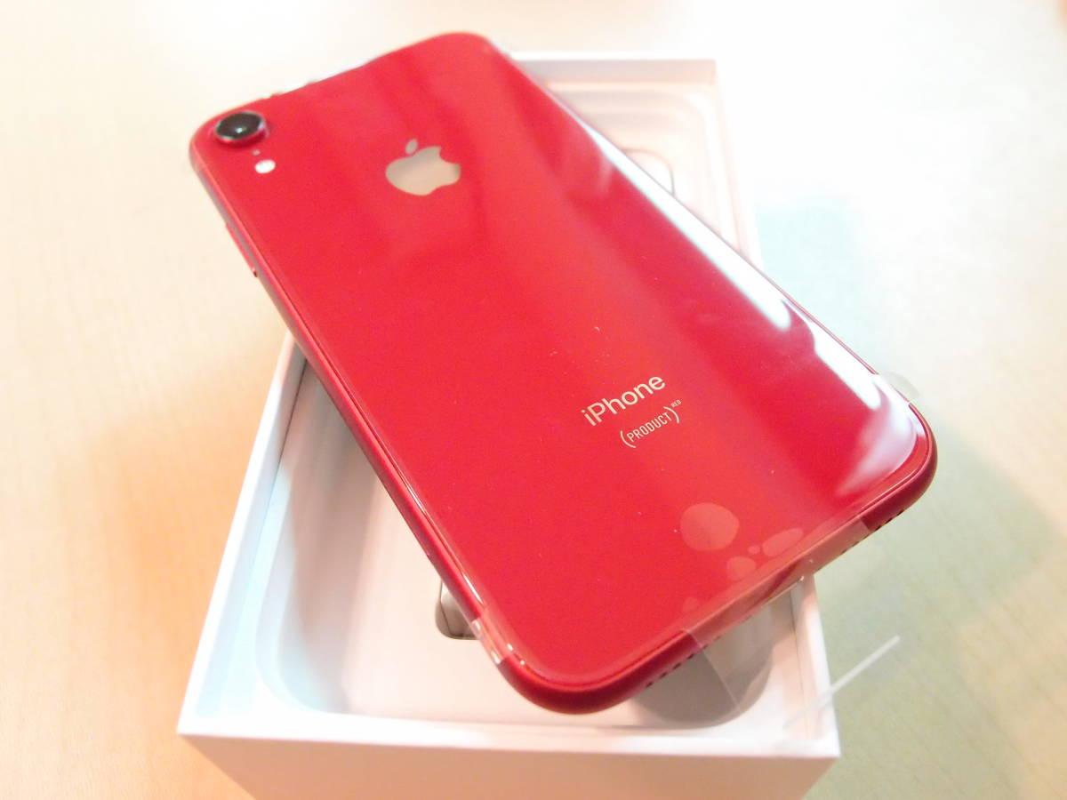★ 新品未使用 au iPhone XR 64GB レッド 判定○ SIMフリー SIMロック解除済み ★_画像3