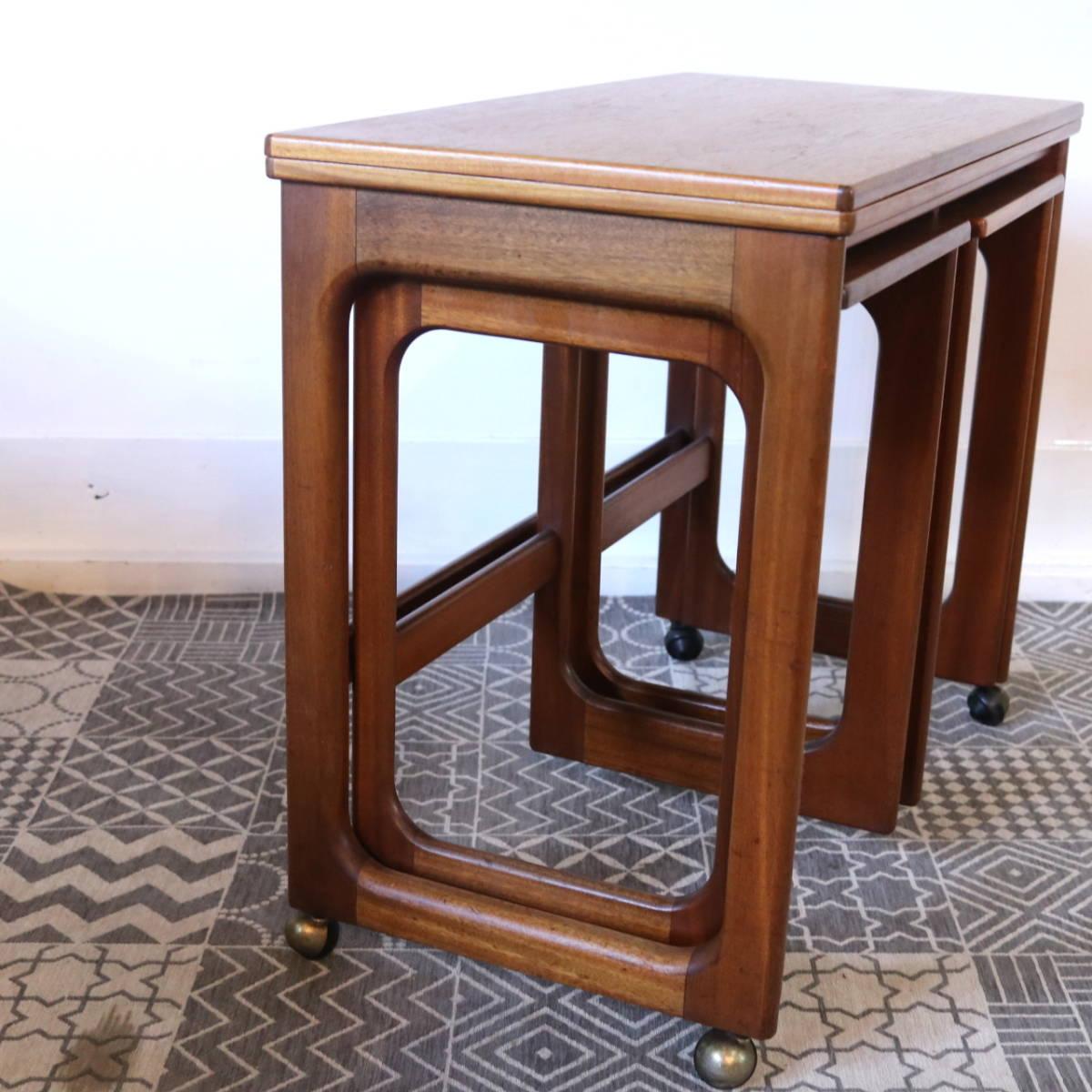 【天板剥離・再塗装メンテ済】イギリス McINTOSH社製 ビンテージ ネストテーブル/ERCOL G-PLAN アンティーク コーヒーテーブル 北欧_画像3