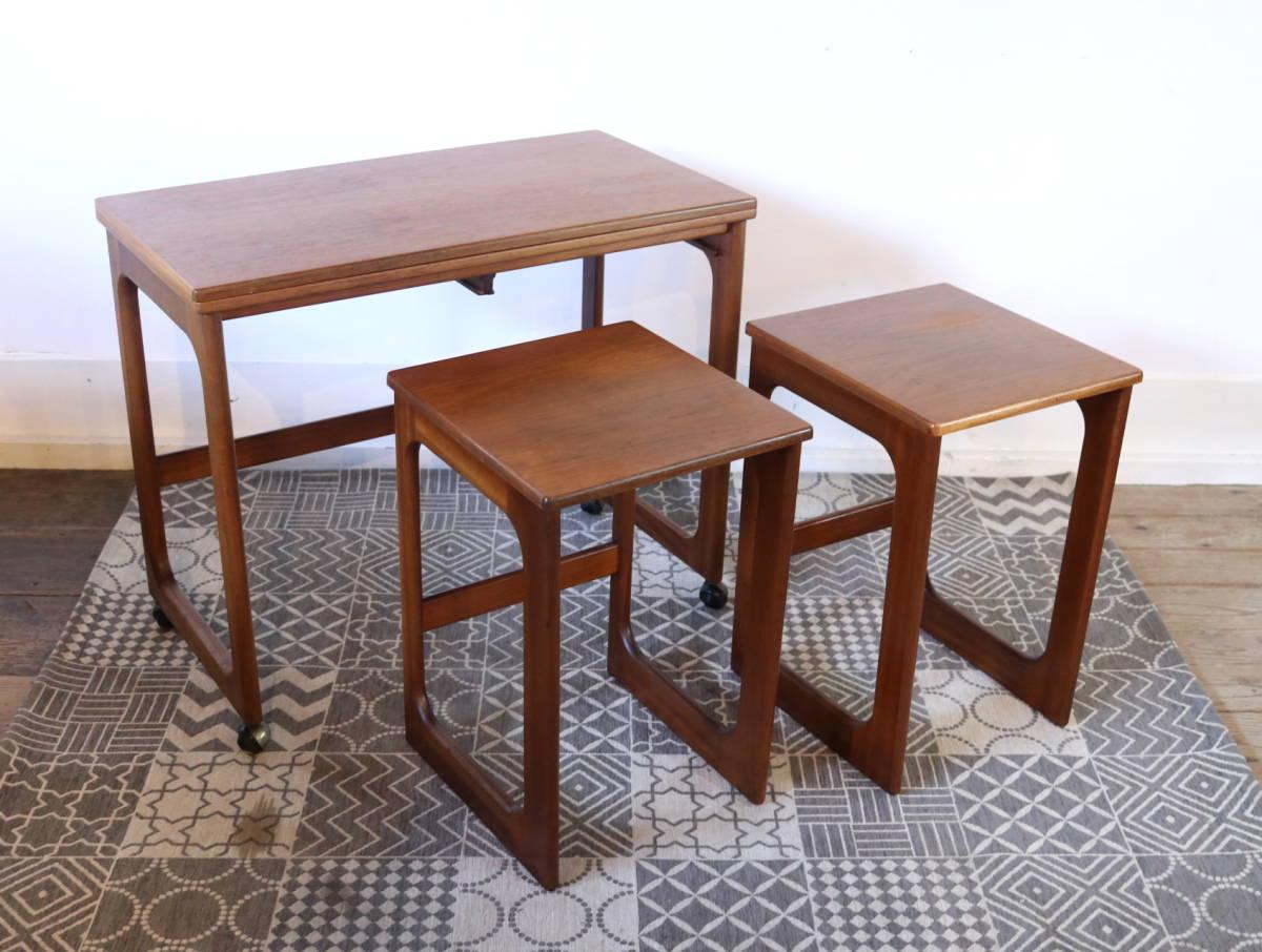 【天板剥離・再塗装メンテ済】イギリス McINTOSH社製 ビンテージ ネストテーブル/ERCOL G-PLAN アンティーク コーヒーテーブル 北欧_画像5