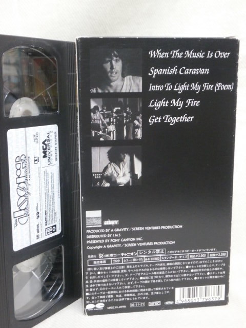 ★ドアーズ VHSビデオ 3本まとめてセット! おまけ付き★THE DOORS, JIM MORRISON_画像2