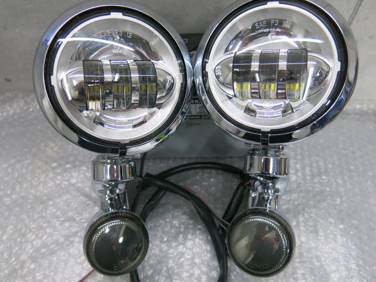 総額16万相当 H-D純正OP ツーリング フォグランプブラケット LEDフォグランプ 検 FLHX FLHXSE CVO FLHR FLHRSE FLHTCU FLHT デイメーカー