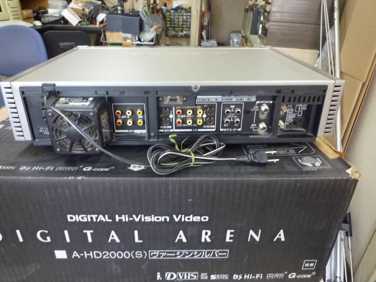 TOSHIBA 東芝 A-HD2000 D-VHSビデオデッキ ジャンク品_画像6