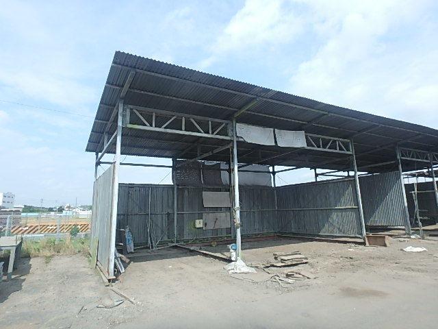 061401外装屋根万能鋼板安全塀土台重量鉄骨付き倉庫骨組大型ガレージ車庫直
