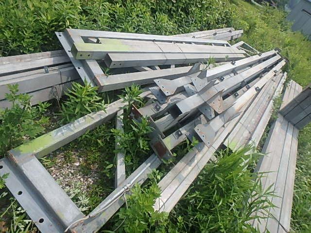 061401外装屋根万能鋼板安全塀土台重量鉄骨付き倉庫骨組大型ガレージ車庫直_画像10