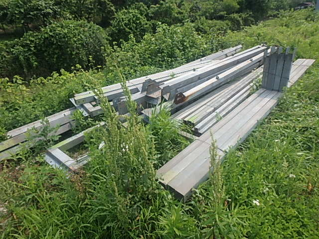 061401外装屋根万能鋼板安全塀土台重量鉄骨付き倉庫骨組大型ガレージ車庫直_画像9