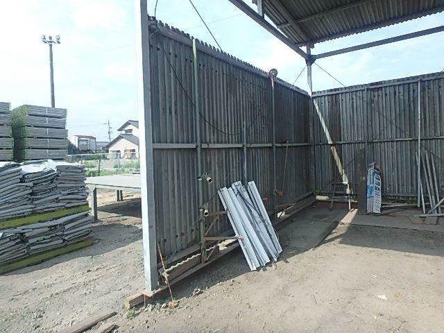 061401外装屋根万能鋼板安全塀土台重量鉄骨付き倉庫骨組大型ガレージ車庫直_画像2
