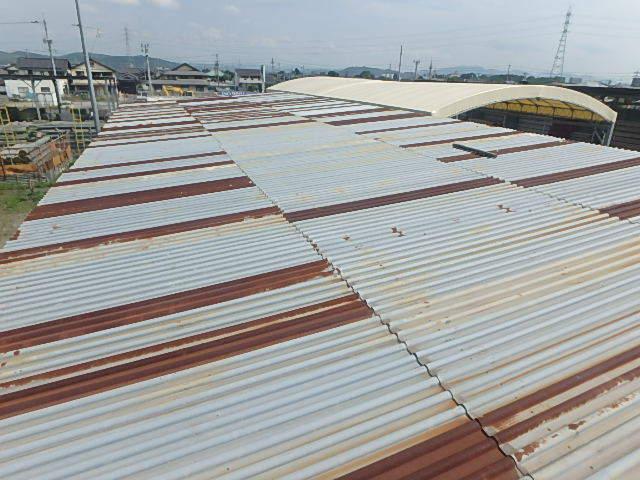 061401外装屋根万能鋼板安全塀土台重量鉄骨付き倉庫骨組大型ガレージ車庫直_画像6