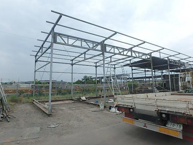 061401外装屋根万能鋼板安全塀土台重量鉄骨付き倉庫骨組大型ガレージ車庫直_画像7