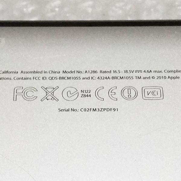 美品★ MacBook Pro 15 CTO Core i7-4コア 新品SSD:250GB メモリ:8GB 高解像度液晶 新品バッテリー Office 2016_画像5