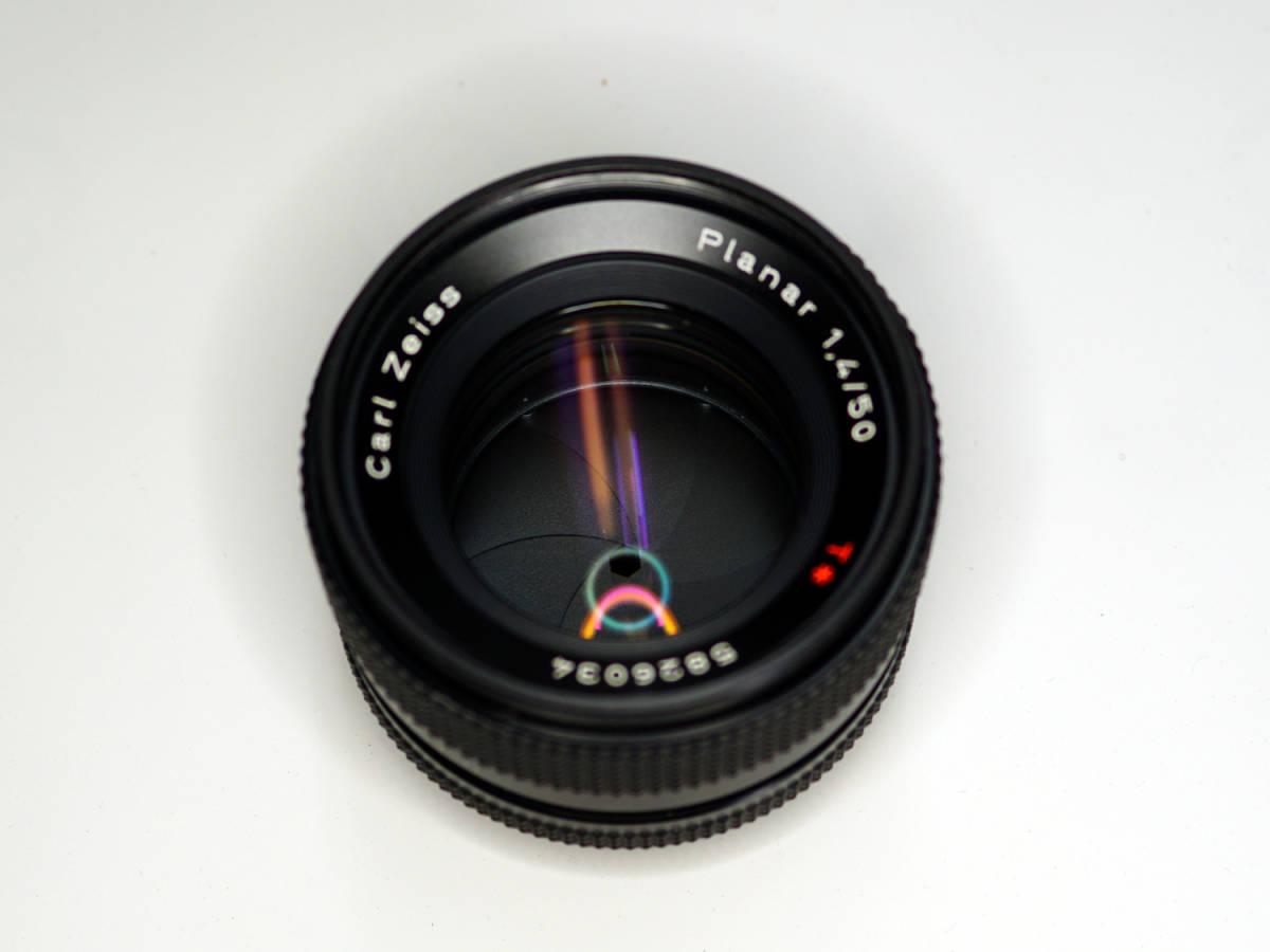 CONTAX Planar 50mm F1.4 AE 初期型 582万番 中古_画像5