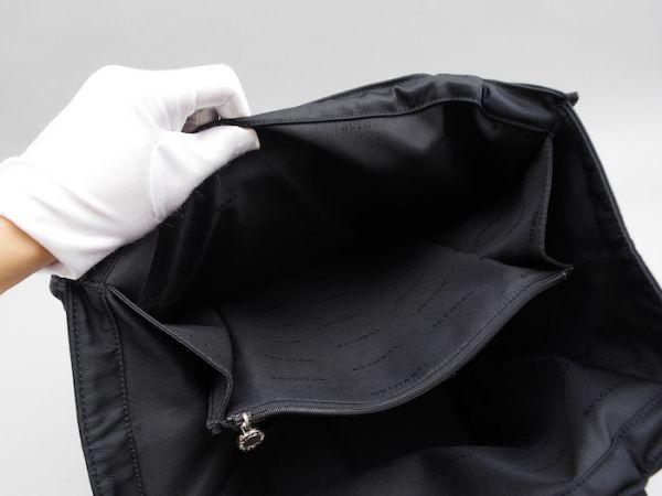 ■【極美品】BVLGARI ブルガリ トートバッグ ナイロン レザー 本革 かばん レディース ブラック_画像10