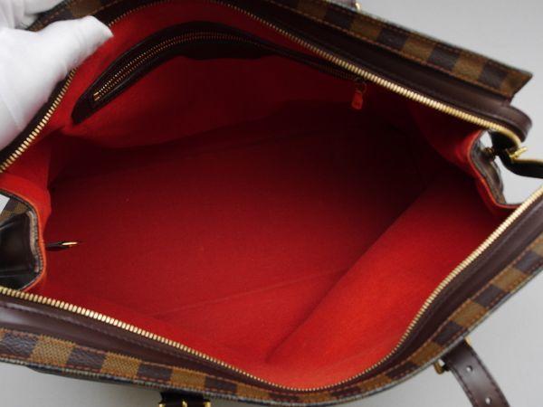 ■【極美品】ルイヴィトン Louis Vuitton ダミエ チェルシー ショルダーバッグ エベヌ レザー かばん 鞄 定価約16万円_画像9