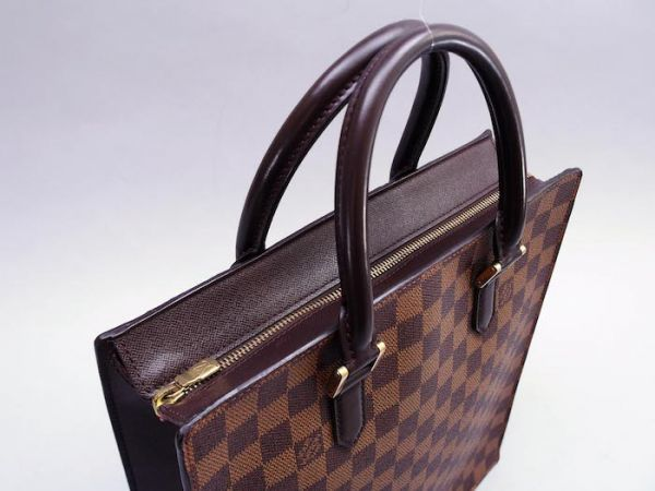 ■【美品】ルイヴィトン Louis Vuitton ダミエ ヴェニスPM トートバッグ ビジネス メンズ レディース かばん 定価約15万_画像3
