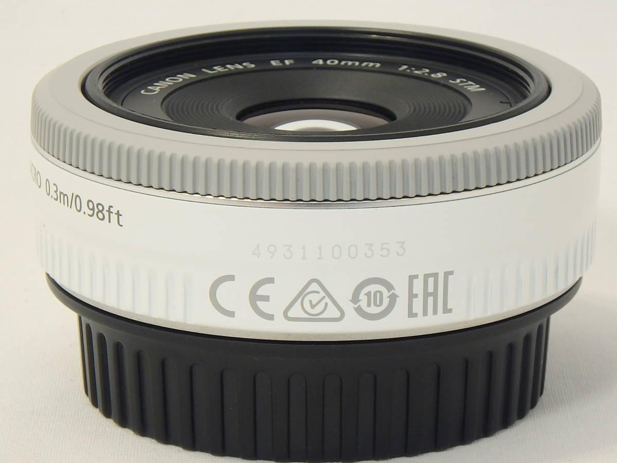 ☆ 白 Canon EF 40mm F2.8 STM White ホワイト キレイ すべてのEOSで使える「フルサイズ用レンズ」 限定バージョン Kiss M X7 X9 X10 白 ☆_画像4