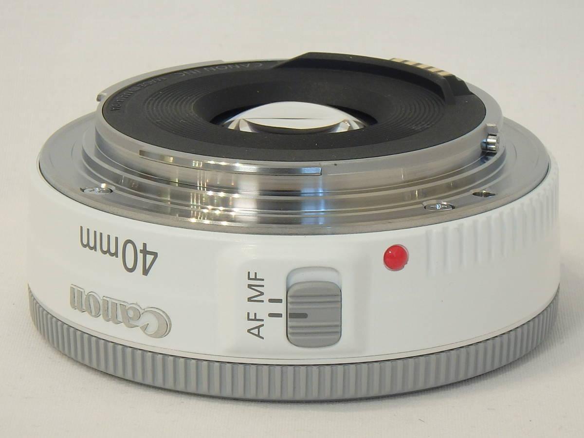 ☆ 白 Canon EF 40mm F2.8 STM White ホワイト キレイ すべてのEOSで使える「フルサイズ用レンズ」 限定バージョン Kiss M X7 X9 X10 白 ☆_画像5