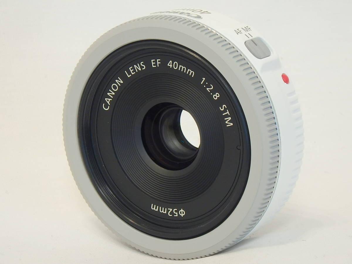 ☆ 白 Canon EF 40mm F2.8 STM White ホワイト キレイ すべてのEOSで使える「フルサイズ用レンズ」 限定バージョン Kiss M X7 X9 X10 白 ☆_画像6