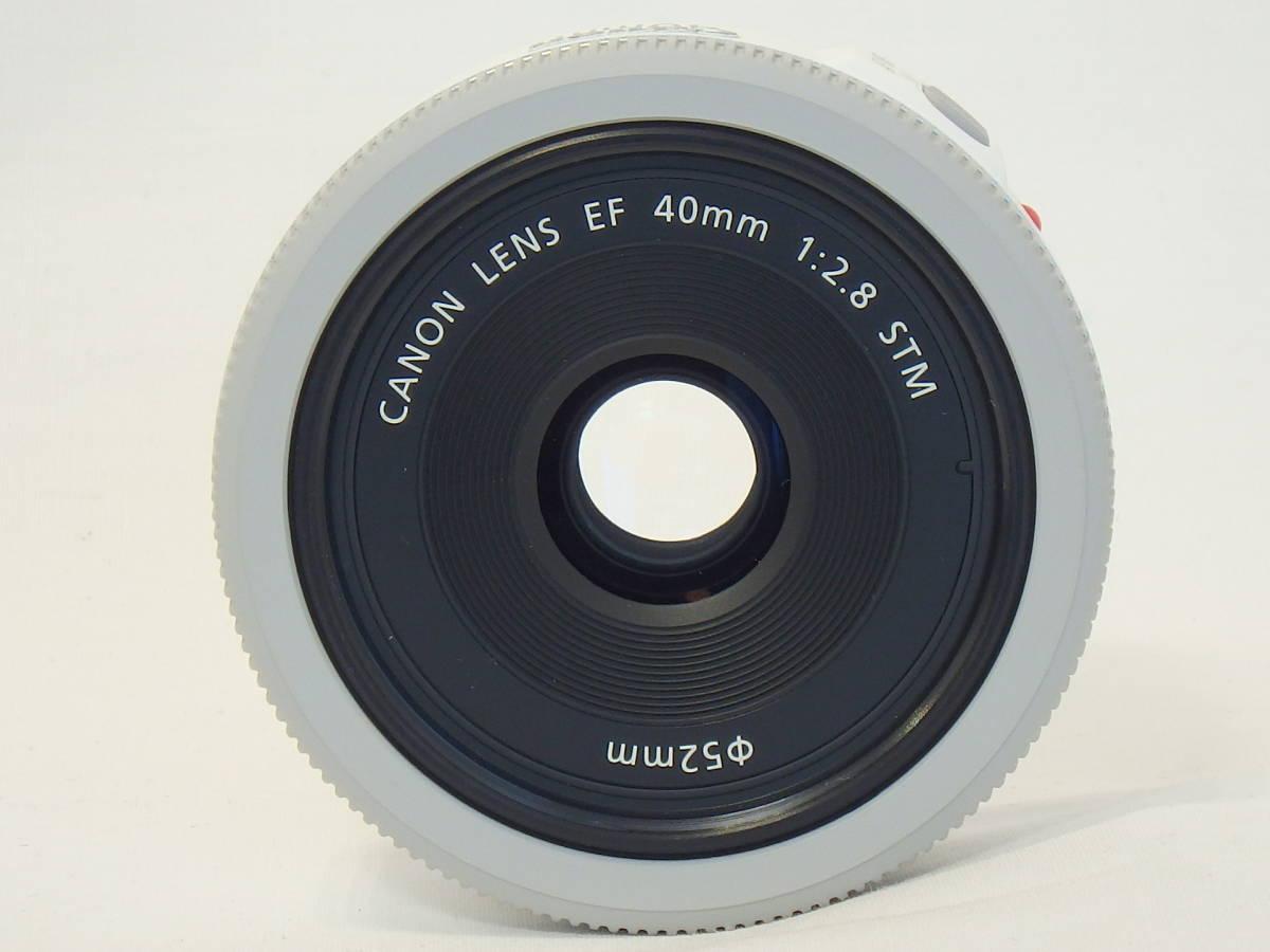 ☆ 白 Canon EF 40mm F2.8 STM White ホワイト キレイ すべてのEOSで使える「フルサイズ用レンズ」 限定バージョン Kiss M X7 X9 X10 白 ☆_画像7