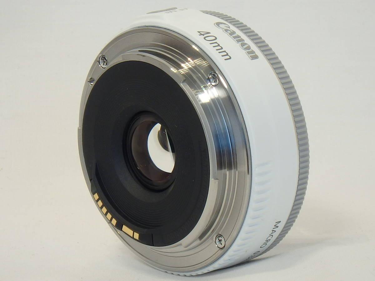 ☆ 白 Canon EF 40mm F2.8 STM White ホワイト キレイ すべてのEOSで使える「フルサイズ用レンズ」 限定バージョン Kiss M X7 X9 X10 白 ☆_画像8
