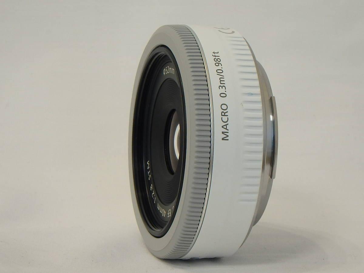 ☆ 白 Canon EF 40mm F2.8 STM White ホワイト キレイ すべてのEOSで使える「フルサイズ用レンズ」 限定バージョン Kiss M X7 X9 X10 白 ☆_画像10