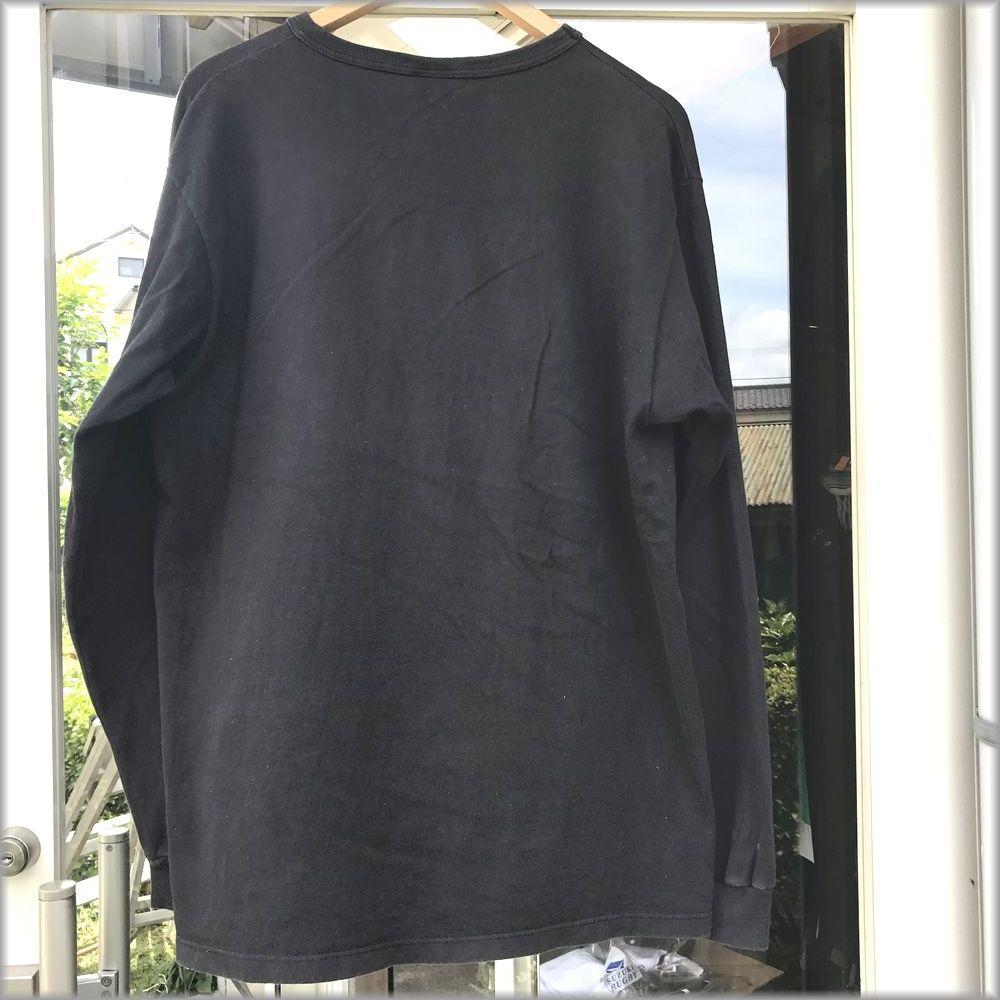 ★チャンピオン USA製 ロンT size L ブラック★検 ビンテージ 90s 長袖 Tシャツ_画像2