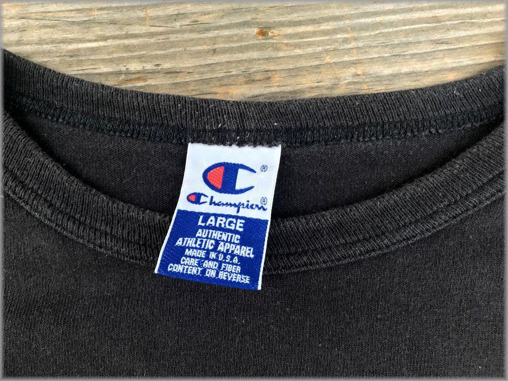 ★チャンピオン USA製 ロンT size L ブラック★検 ビンテージ 90s 長袖 Tシャツ_画像3