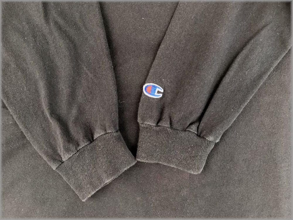 ★チャンピオン USA製 ロンT size L ブラック★検 ビンテージ 90s 長袖 Tシャツ_画像5