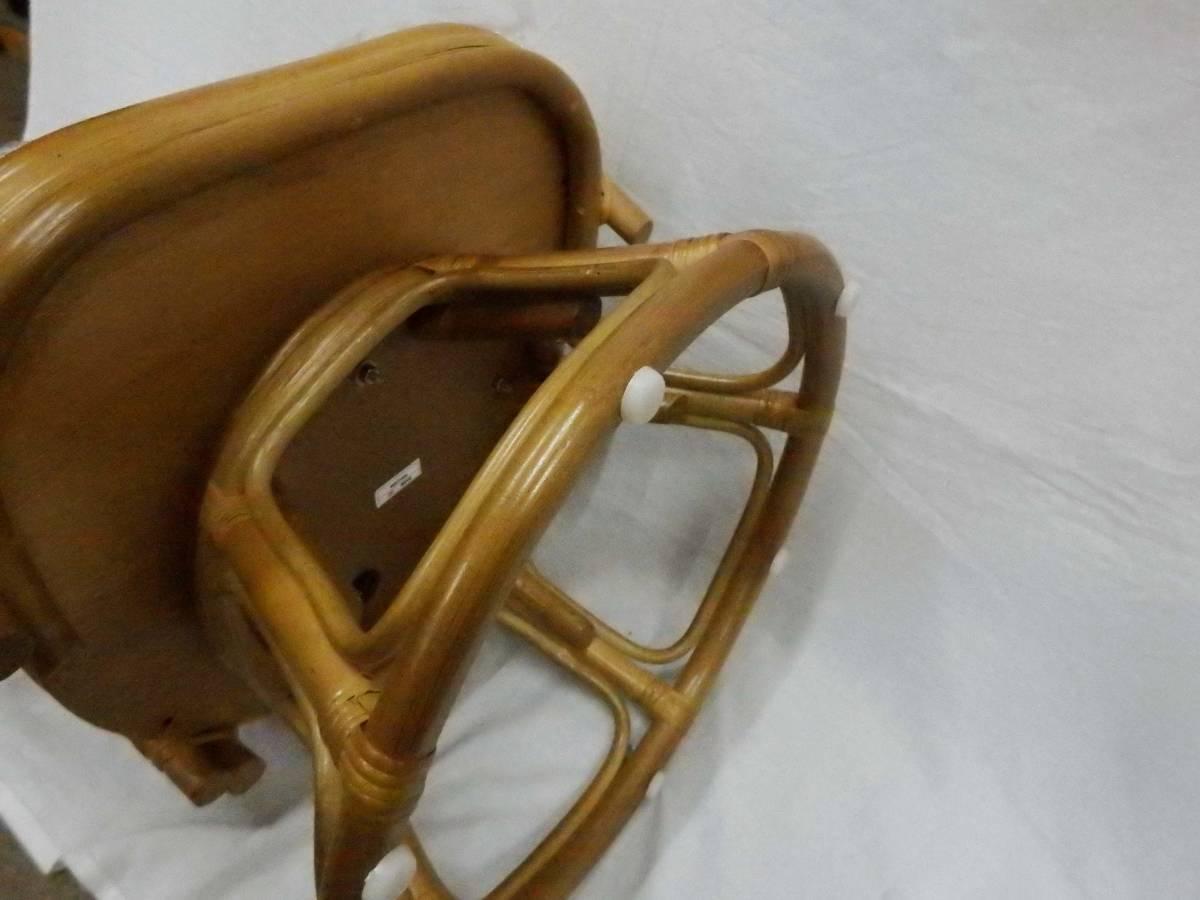 【現品処分特価】ラタンチェアー 肘付籐座椅子 回転チェアー 座面高30cm_画像8