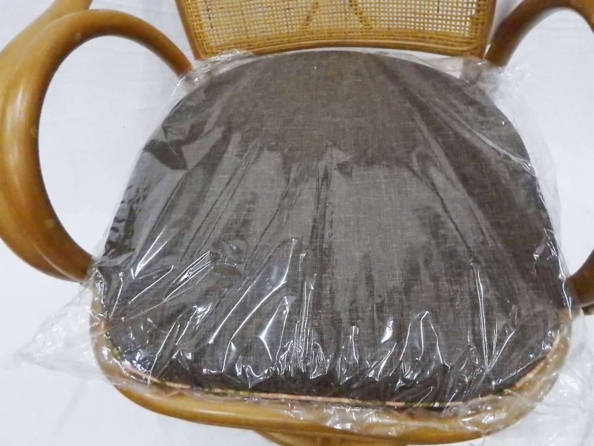 【現品処分特価】ラタンチェアー 肘付籐座椅子 回転チェアー 座面高30cm_画像6