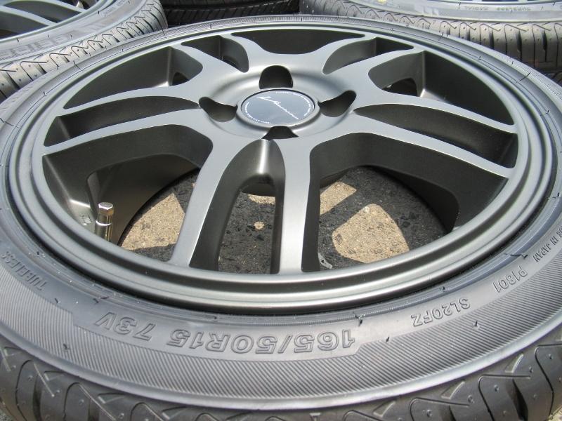 新品タイヤ☆165/50-15 165/50R15 セイバーリング SL201 weds ウェッズ マットガンメタ 6J+43 100 4H カスタムKカーに☆_画像3