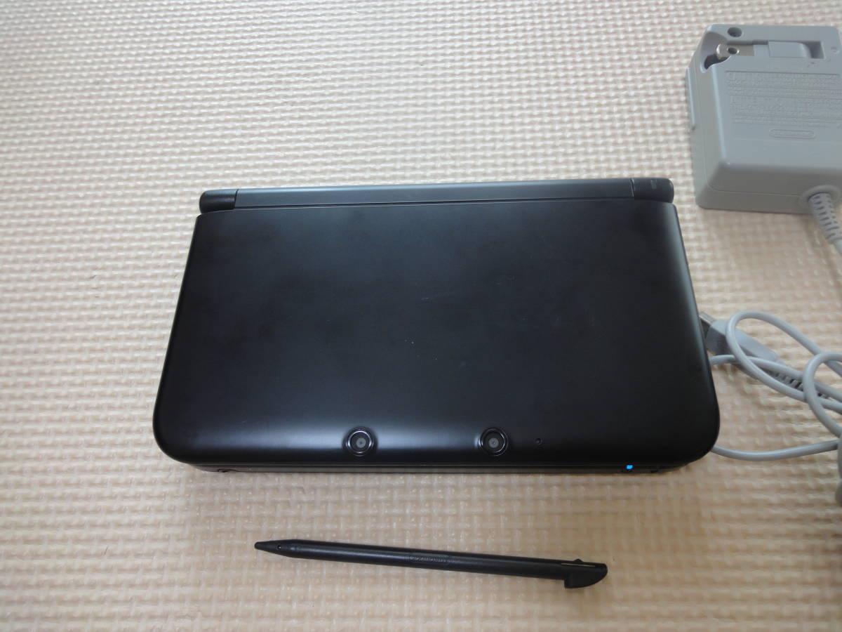 【同梱可・送料無料】ニンテンドー3DS LL 本体 ブラック 初期化済み ACアダプター、タッチペン付き_画像2