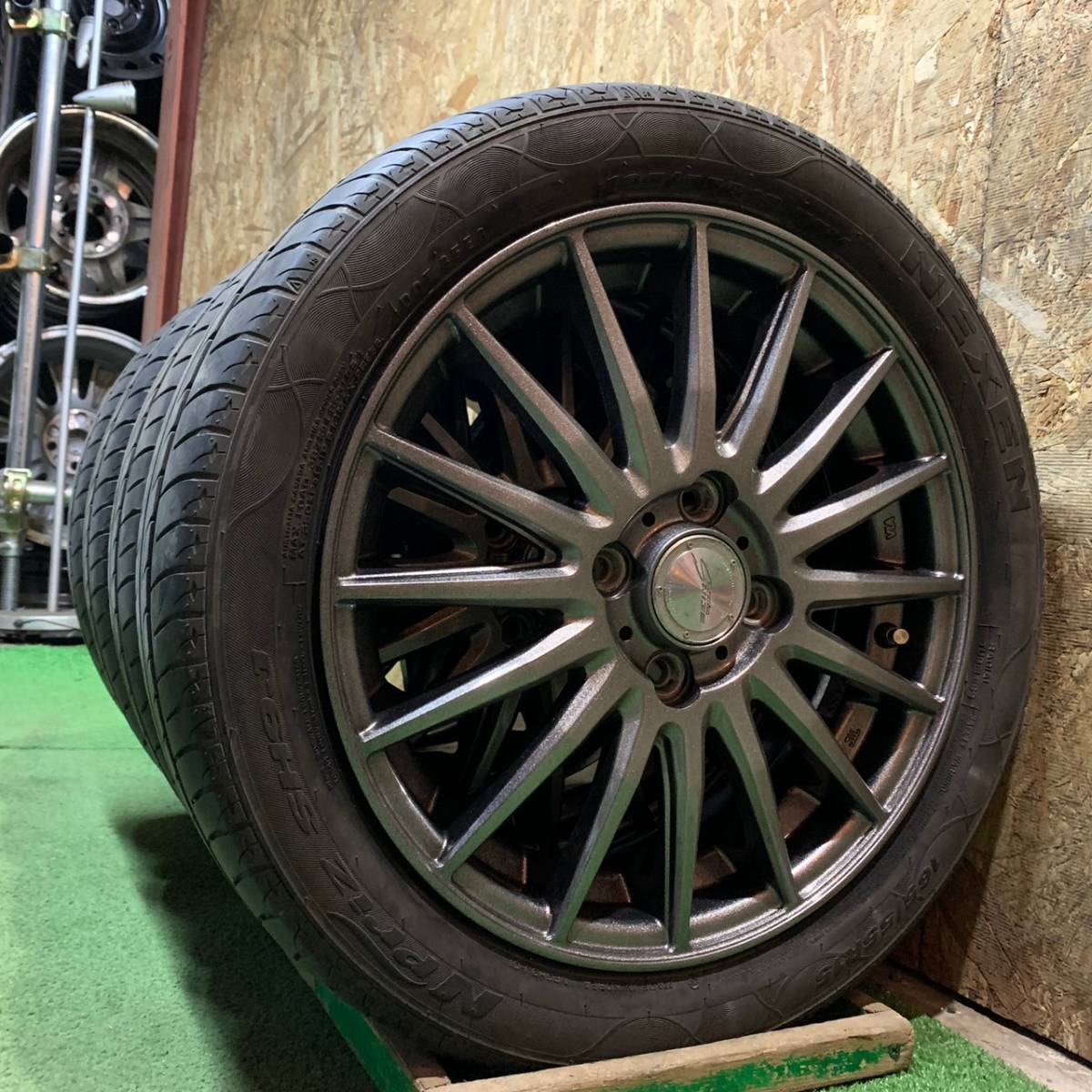美品!SEINS RACING 社外ホイール&165/55R15 NEXEN Npriz SH9J☆ワゴンR タント ムーヴ等 タイヤホイール 4本セット!_画像6