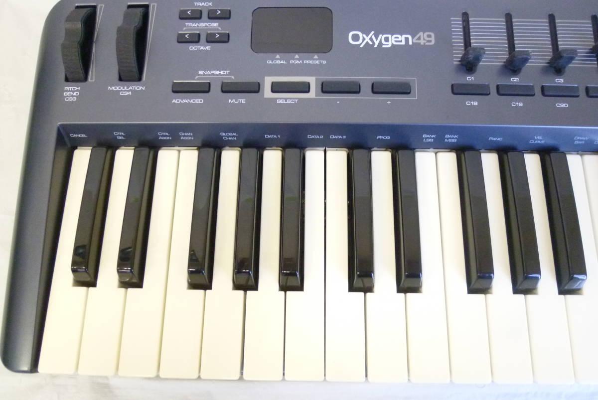 ROLAND M-AUDIO 49鍵盤 USBケーブル MIDIコントローラー OXYGEN49 MIDIキーボード 楽曲製作 Y2019061403_画像2