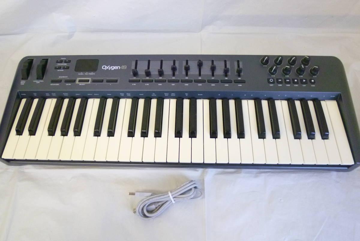 ROLAND M-AUDIO 49鍵盤 USBケーブル MIDIコントローラー OXYGEN49 MIDIキーボード 楽曲製作 Y2019061403