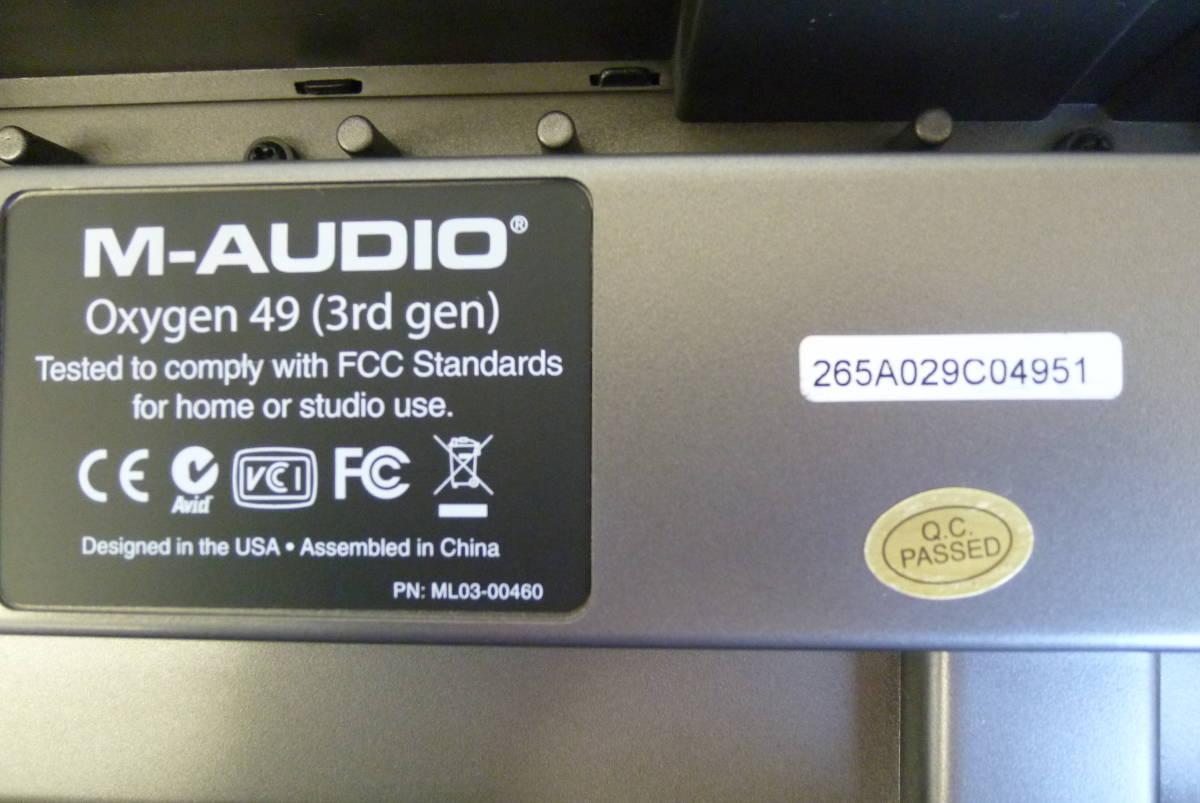ROLAND M-AUDIO 49鍵盤 USBケーブル MIDIコントローラー OXYGEN49 MIDIキーボード 楽曲製作 Y2019061403_画像9