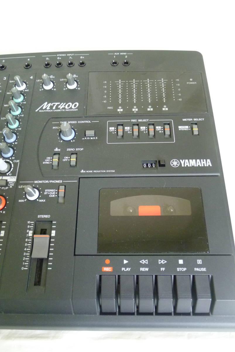 《通電確認済み》 YAMAHA ヤマハ カセット MTR マルチトラックレコーダー MT400 アダプター ソフトケース付き 動作未確認 Y2019061401_画像4