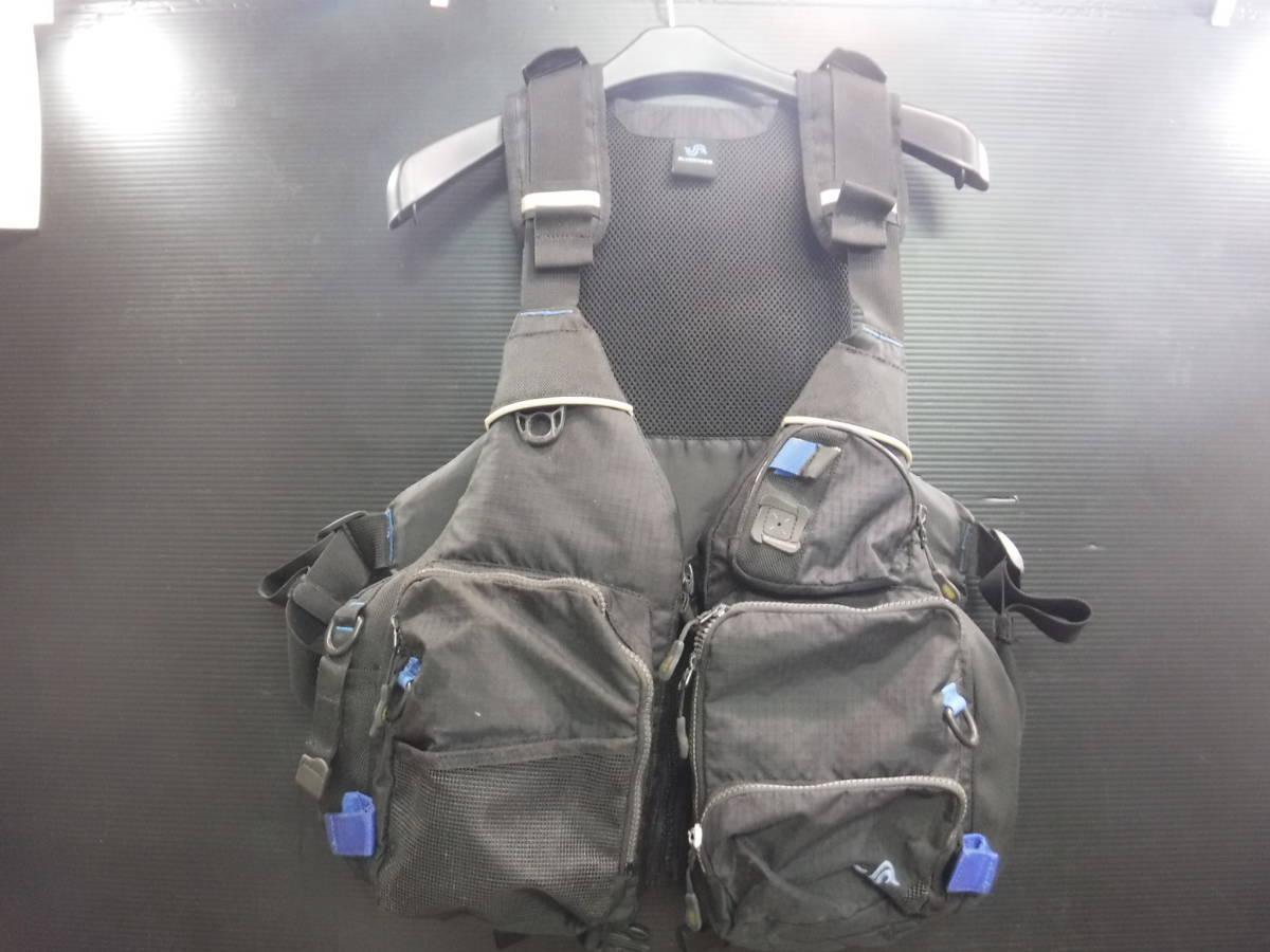 c358 BLUESTORM ライフジャケット/フローティングベスト フリーサイズ 釣り/フローター/ボート/アウトドア/マリンスポーツ