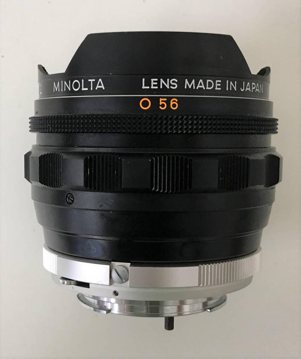【ミノルタ 魚眼レンズ 1:2.8 F=!6mm】MINOLTA/MC FISH-EYE ROKKOR-OK(1502212)/ケース・キャップ付/A5830_画像5