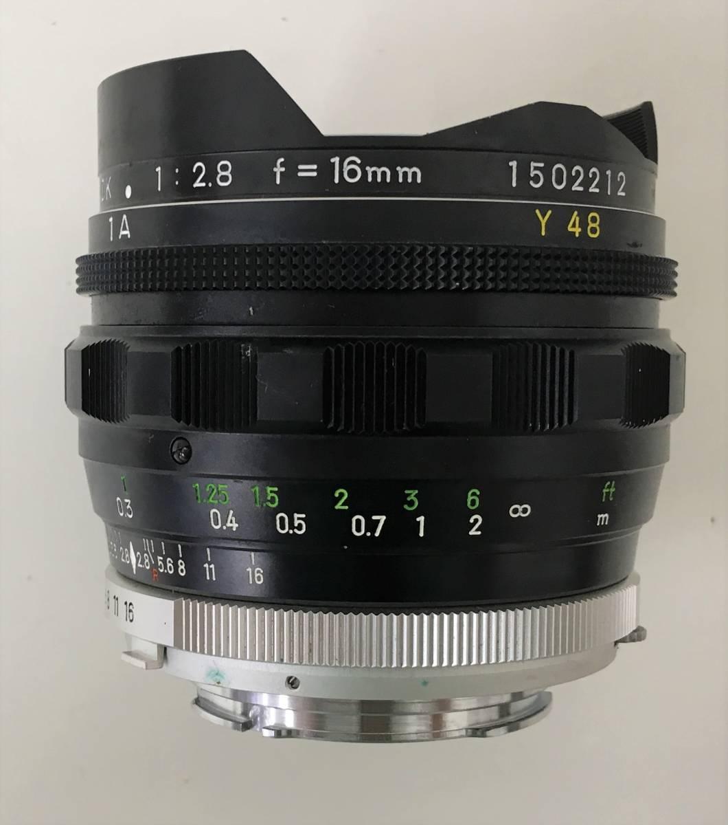 【ミノルタ 魚眼レンズ 1:2.8 F=!6mm】MINOLTA/MC FISH-EYE ROKKOR-OK(1502212)/ケース・キャップ付/A5830_画像4