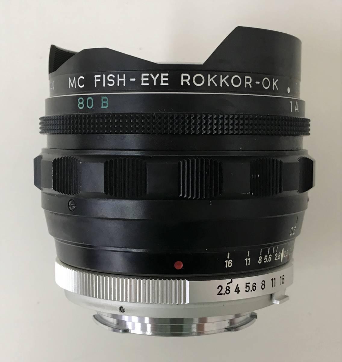【ミノルタ 魚眼レンズ 1:2.8 F=!6mm】MINOLTA/MC FISH-EYE ROKKOR-OK(1502212)/ケース・キャップ付/A5830_画像3