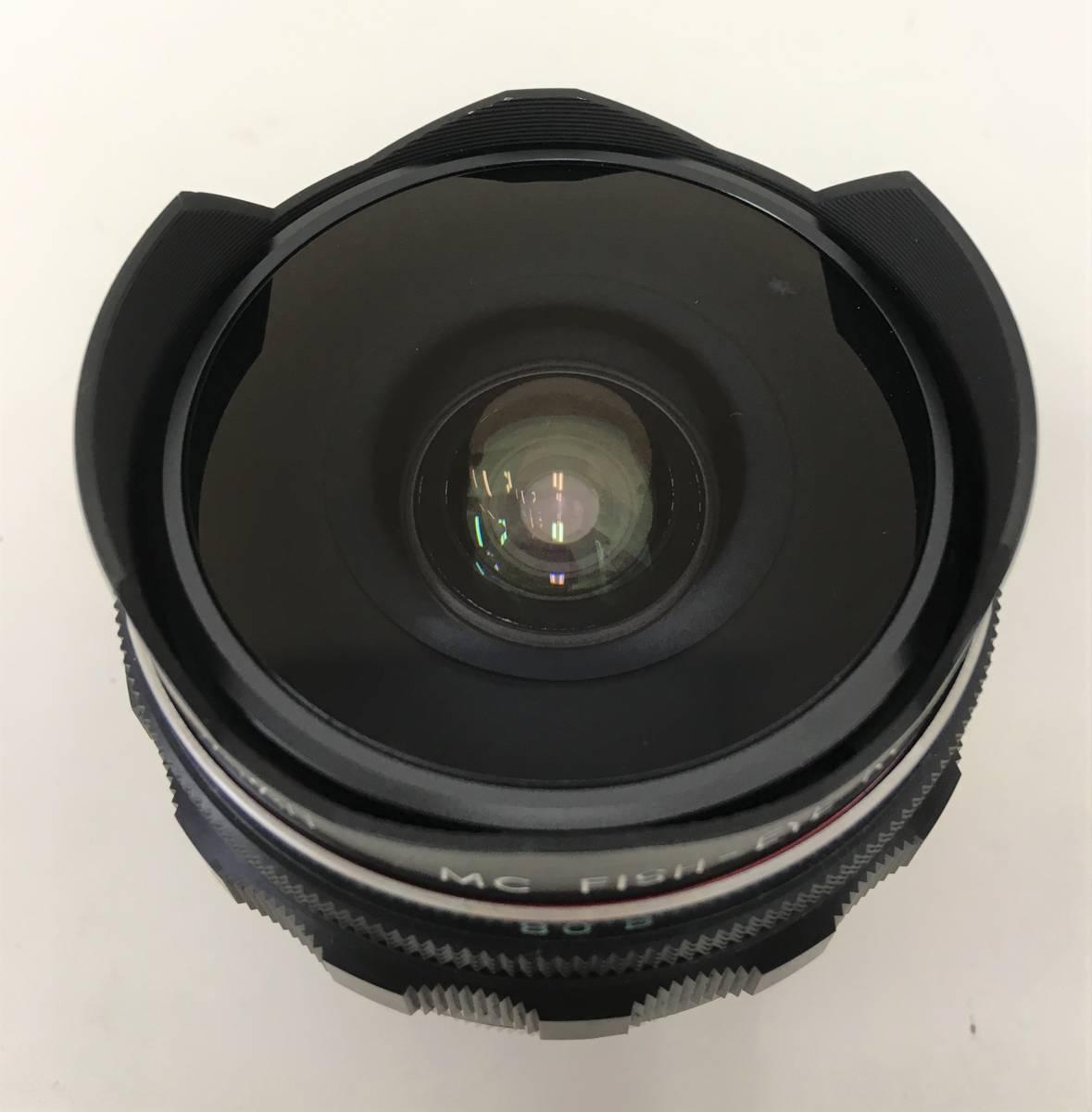 【ミノルタ 魚眼レンズ 1:2.8 F=!6mm】MINOLTA/MC FISH-EYE ROKKOR-OK(1502212)/ケース・キャップ付/A5830_画像8