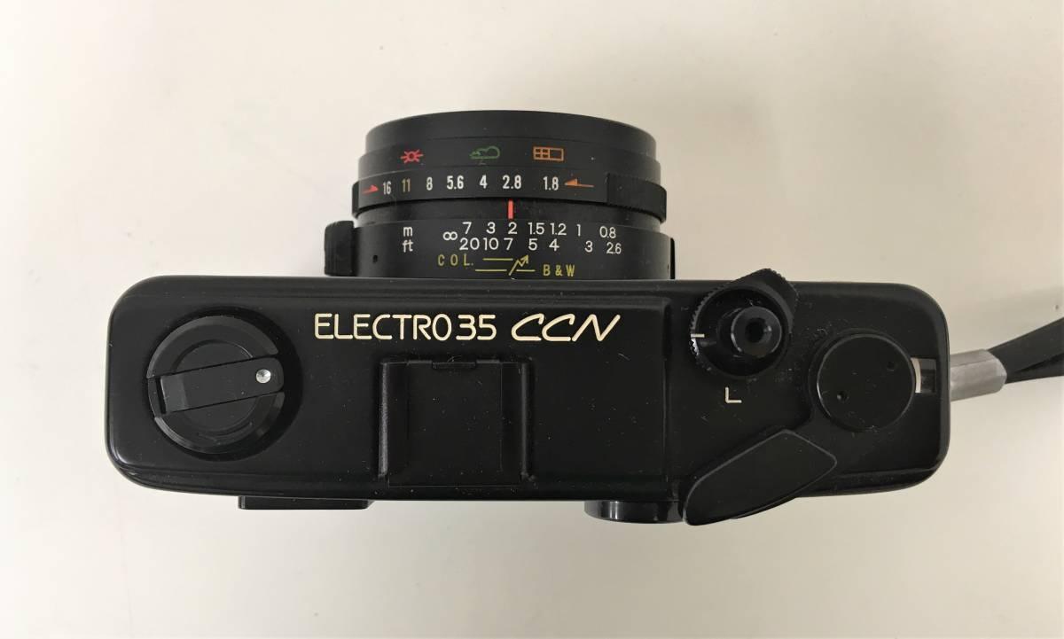 カメラ【ヤシカ YASHICA WIDE ELECTRO35 CCN ヤシノンDX F=35mm 1:1.8】シャッターOK/A5808_画像3