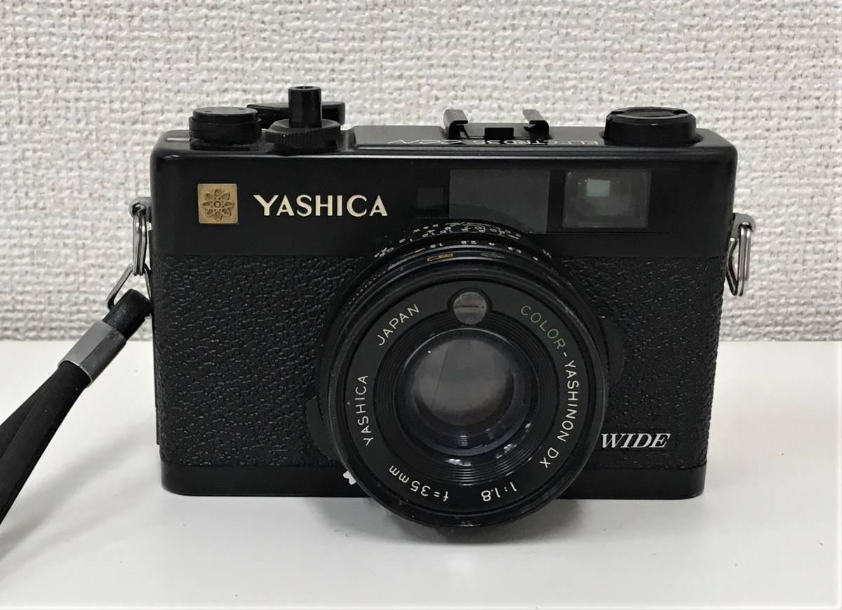カメラ【ヤシカ YASHICA WIDE ELECTRO35 CCN ヤシノンDX F=35mm 1:1.8】シャッターOK/A5808