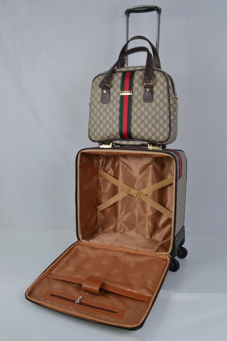 【定価65万】小型本革キャリーケース 機内持ち込み可スーツケース ロック搭載 ビジネス トラベルバッグ 16インチ2点セット_画像2