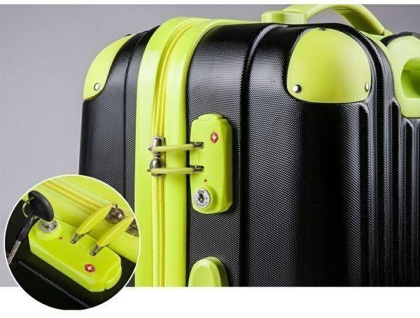 キャリーバッグ Mサイズ スーツケース トラベルハウス 4泊~7泊用 中型 Travelhouse TSAロック搭載(ローズ×ブラック)新品同様_画像9
