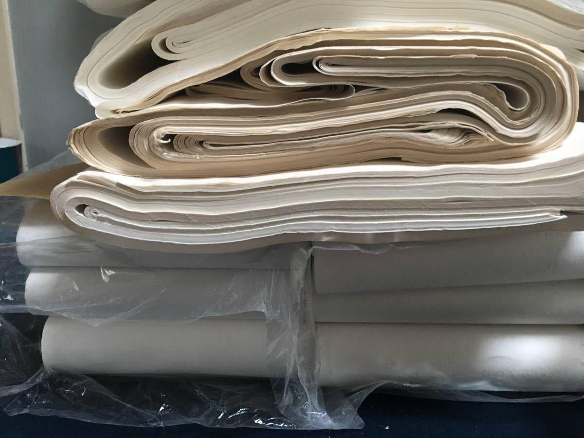 書道紙 大量 約15.4kg まとめて 検)中国 書道 和紙 画仙紙 宣紙 半紙_画像6