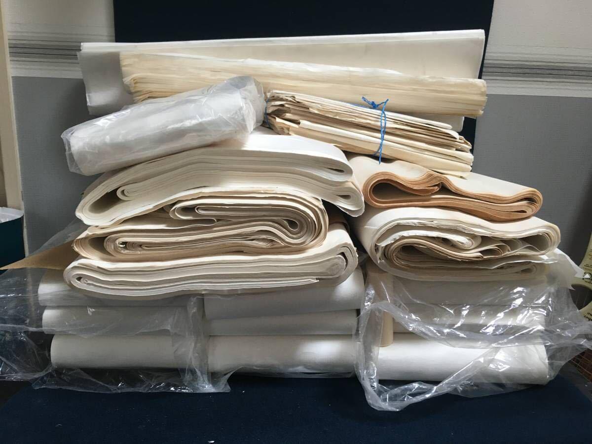 書道紙 大量 約15.4kg まとめて 検)中国 書道 和紙 画仙紙 宣紙 半紙