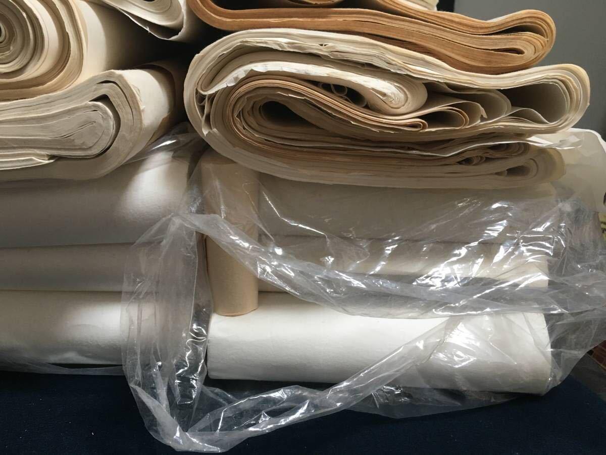 書道紙 大量 約15.4kg まとめて 検)中国 書道 和紙 画仙紙 宣紙 半紙_画像5