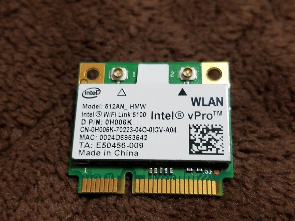 中古 Intel Wireless WiFi Link 5100(512AN_HMW) MINI PCI-E 無線LANカード(12)