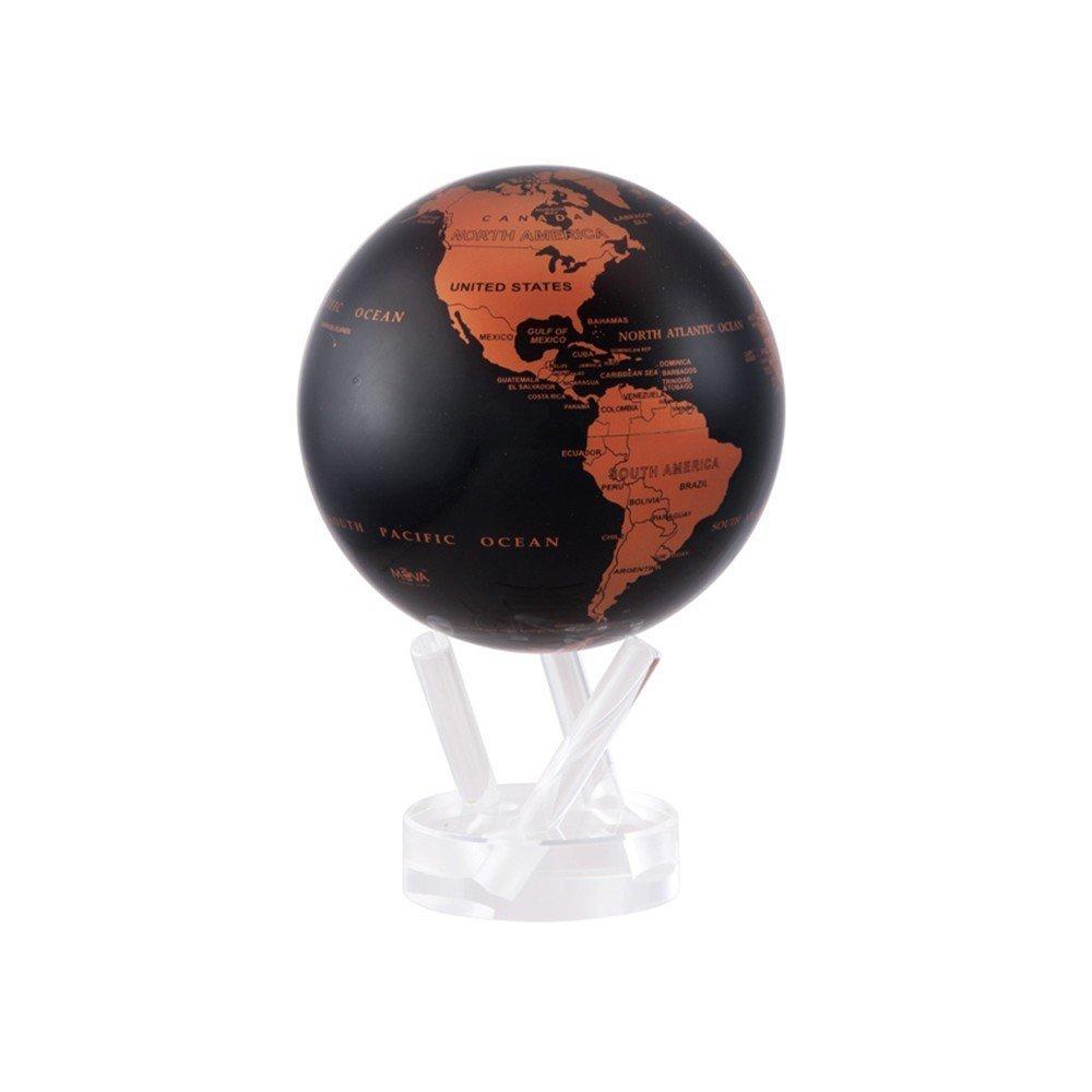 光で回る地球儀 ムーバグローブ MOVA Globe 4.5インチシリーズ【輸入品】 (カッパー&ブラック) 4.5 Copper and Black Earth MOVA Globe_画像2