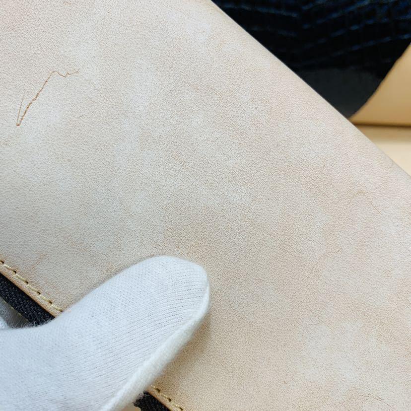 「匠」訳あり/新品 試作品 ★キャメル★ ブライドルレザー ラウンドファスナー ヌメ革 メンズ 財布 YKK 長財布 革財布 経年変化を愉しむ_画像6